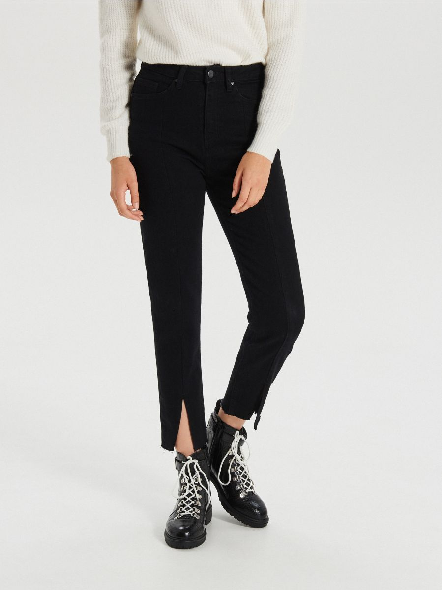 LADIES` JEANS TROUSERS - FEKETE - WT533-99J - Cropp - 2