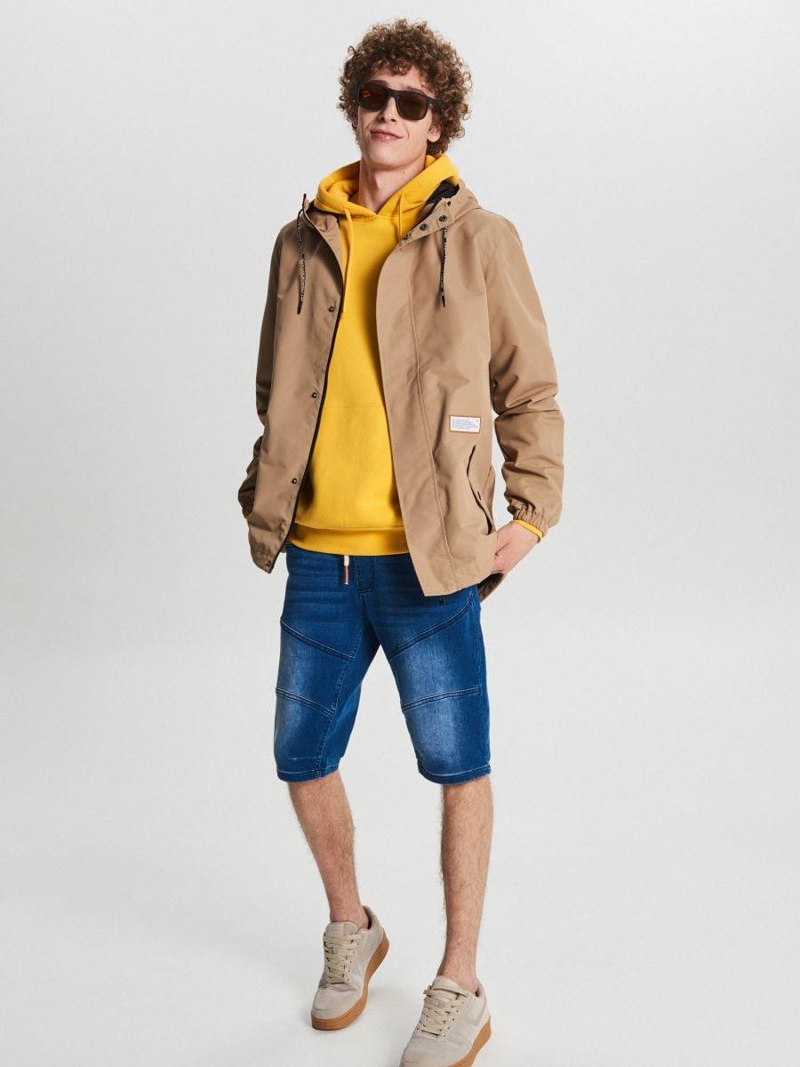 Könnyű dzseki kapucnival - BÉZS - VB081-80X - Cropp - 1