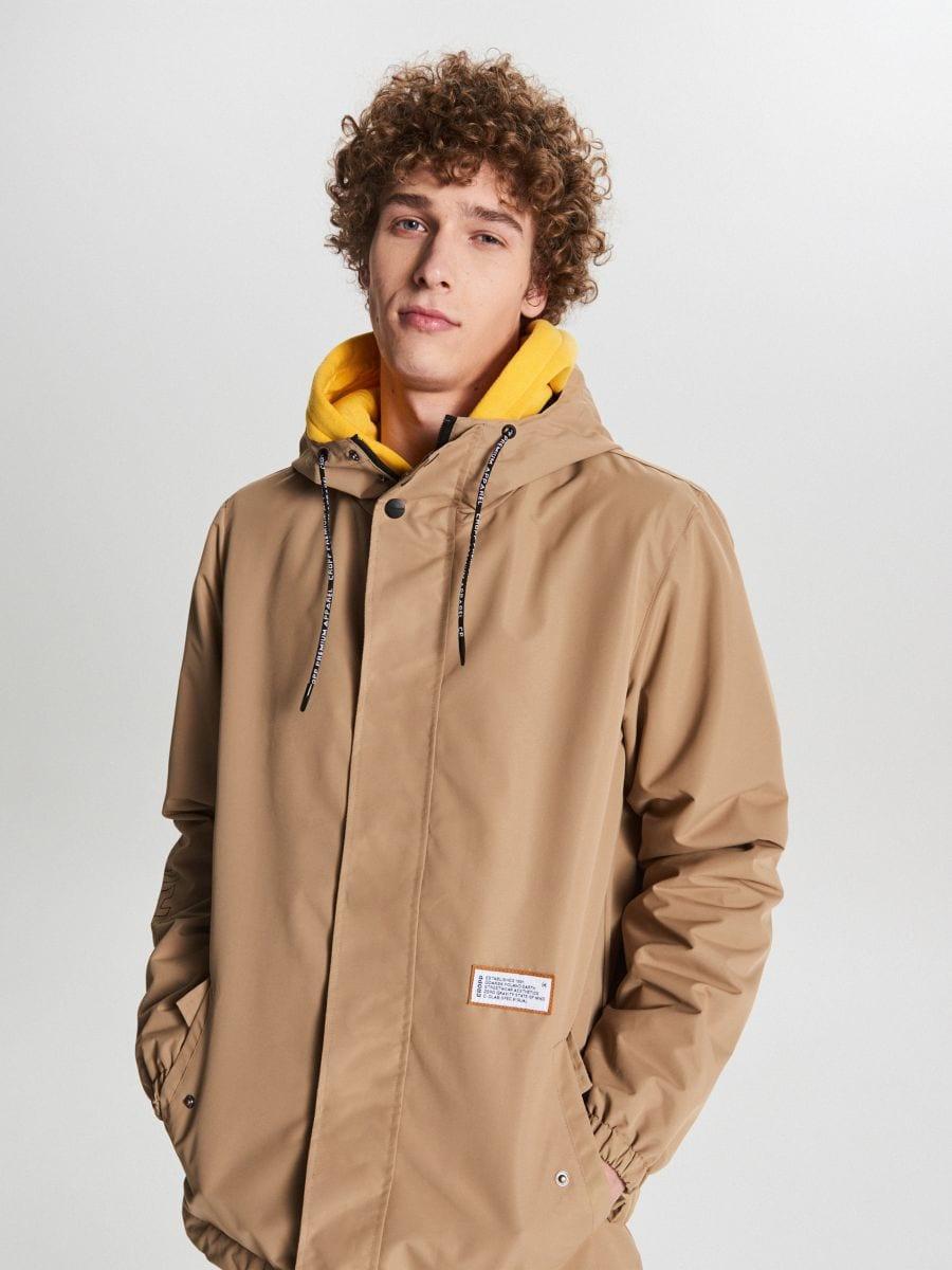 Könnyű dzseki kapucnival - BÉZS - VB081-80X - Cropp - 2