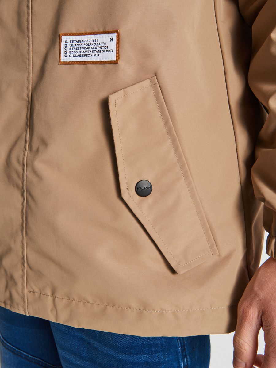 Könnyű dzseki kapucnival - BÉZS - VB081-80X - Cropp - 3
