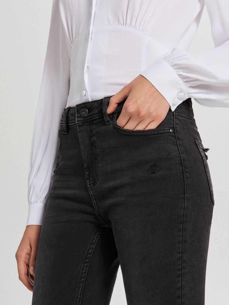 Skinny mid waist farmer - FEKETE - WC912-99J - Cropp - 2