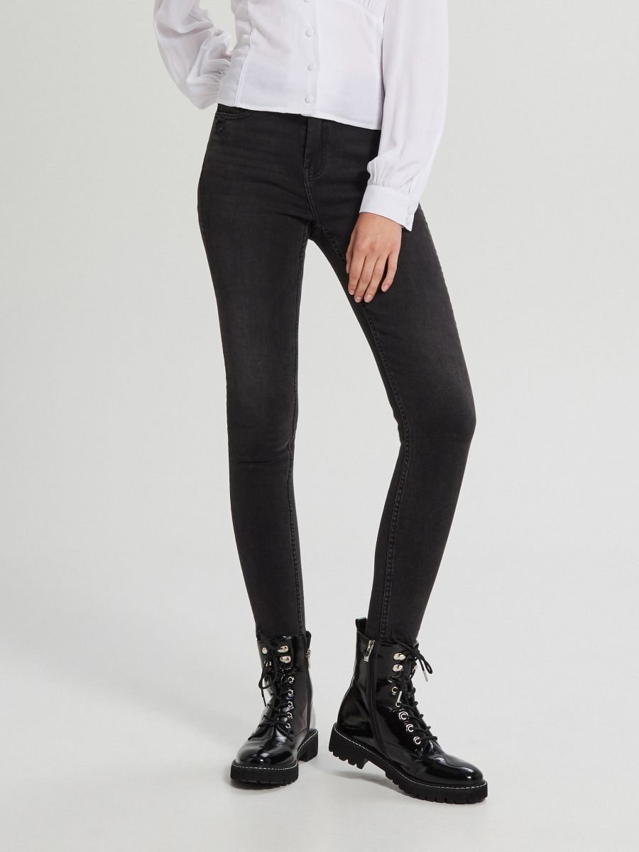 Skinny mid waist farmer - FEKETE - WC912-99J - Cropp - 4