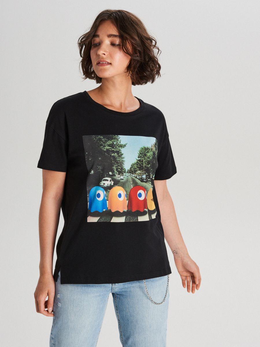 Pac-Man-póló - FEKETE - WH712-99X - Cropp - 1