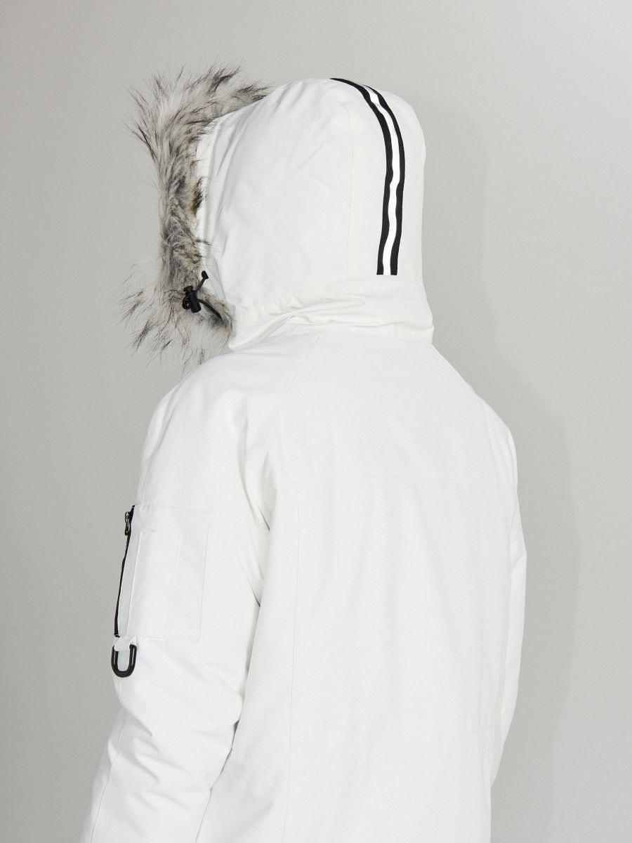 Sport kapucnis dzseki - FEHÉR - WS135-00X - Cropp - 9
