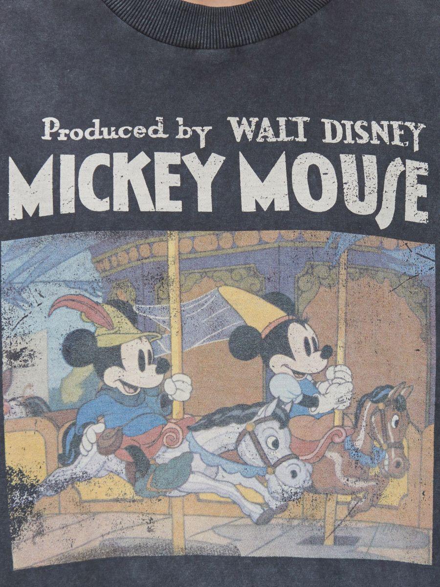 Mickey Mouse póló - SZÜRKE - YA441-90M - Cropp - 4