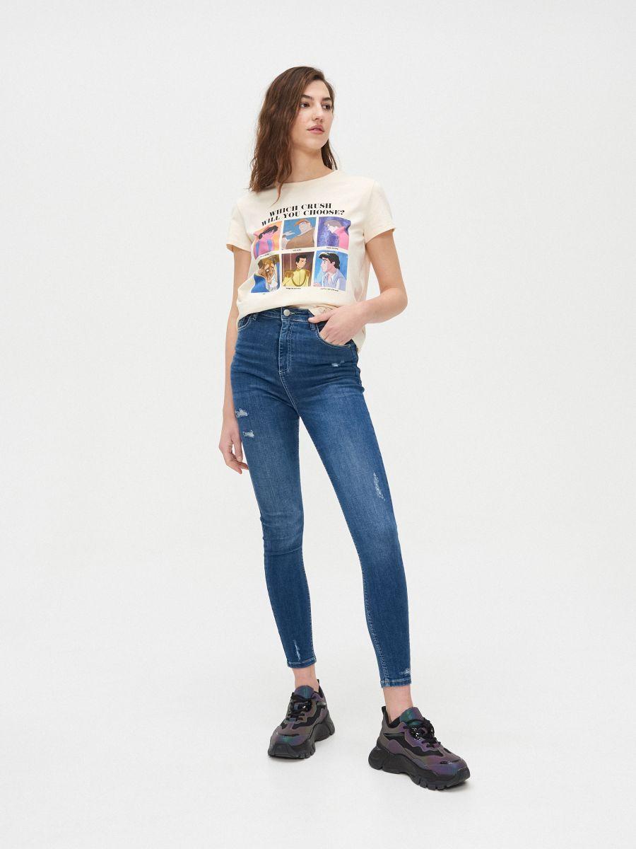 Disney póló - KRÉM - YH658-01X - Cropp - 2