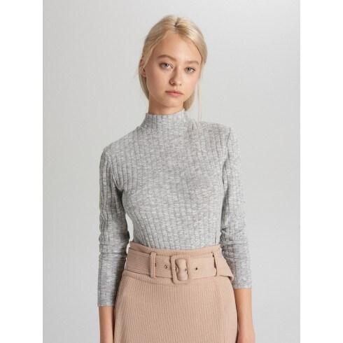 Bordázott pulóver