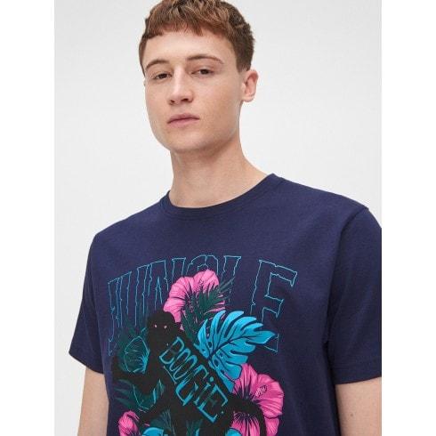 Nyomott mintás pamut póló