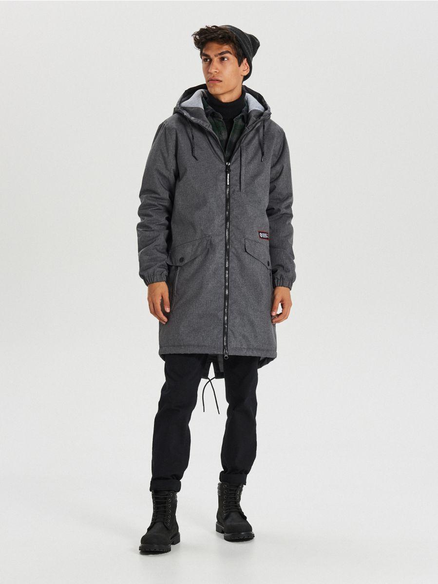 Hooded coat - GRAU - VB129-90M - Cropp - 1