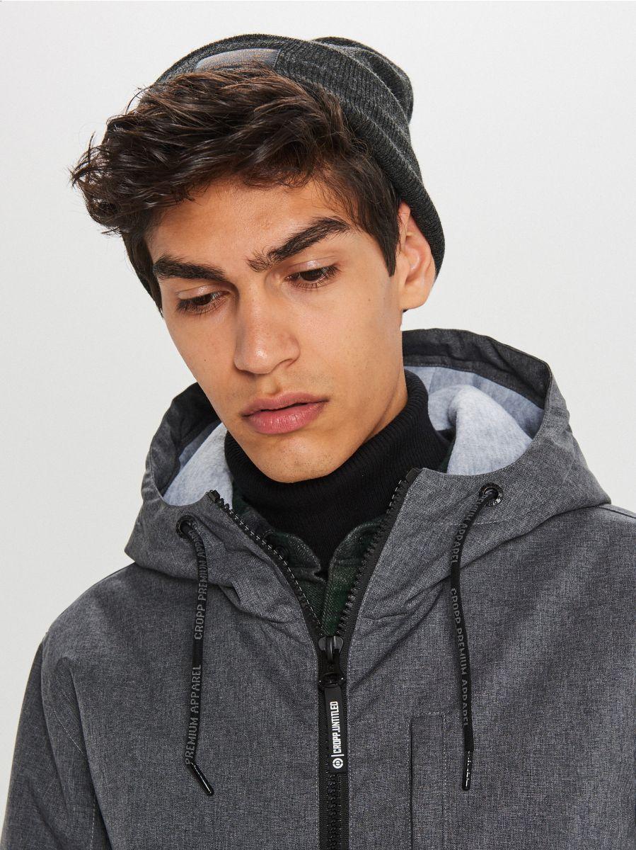 Hooded coat - GRAU - VB129-90M - Cropp - 3