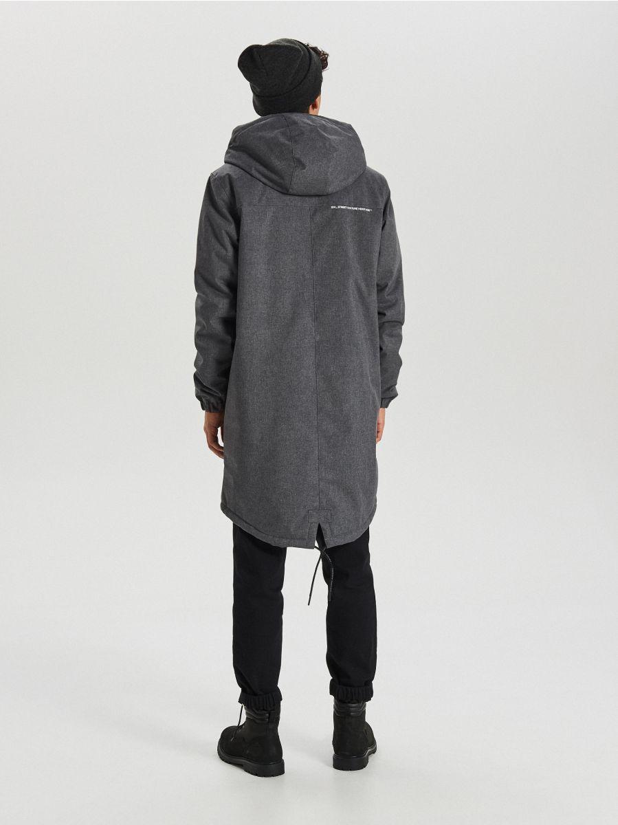 Hooded coat - GRAU - VB129-90M - Cropp - 5