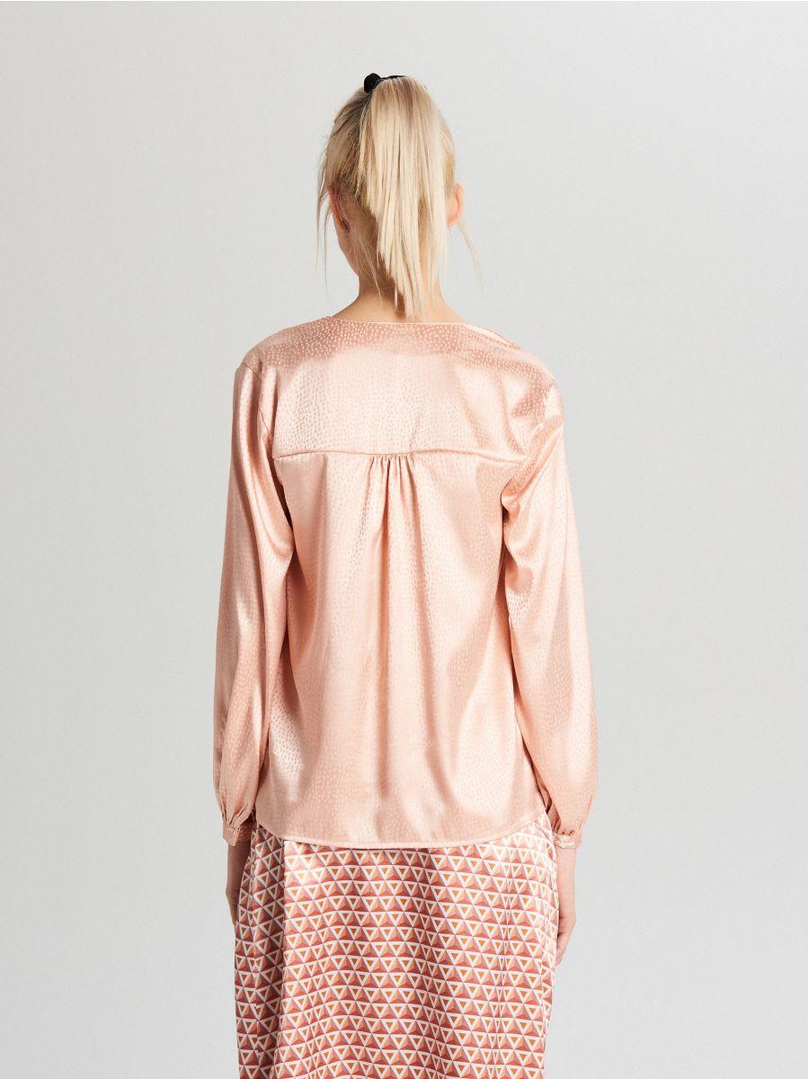 Satin blouse - ROSA - VY067-03X - Cropp - 4