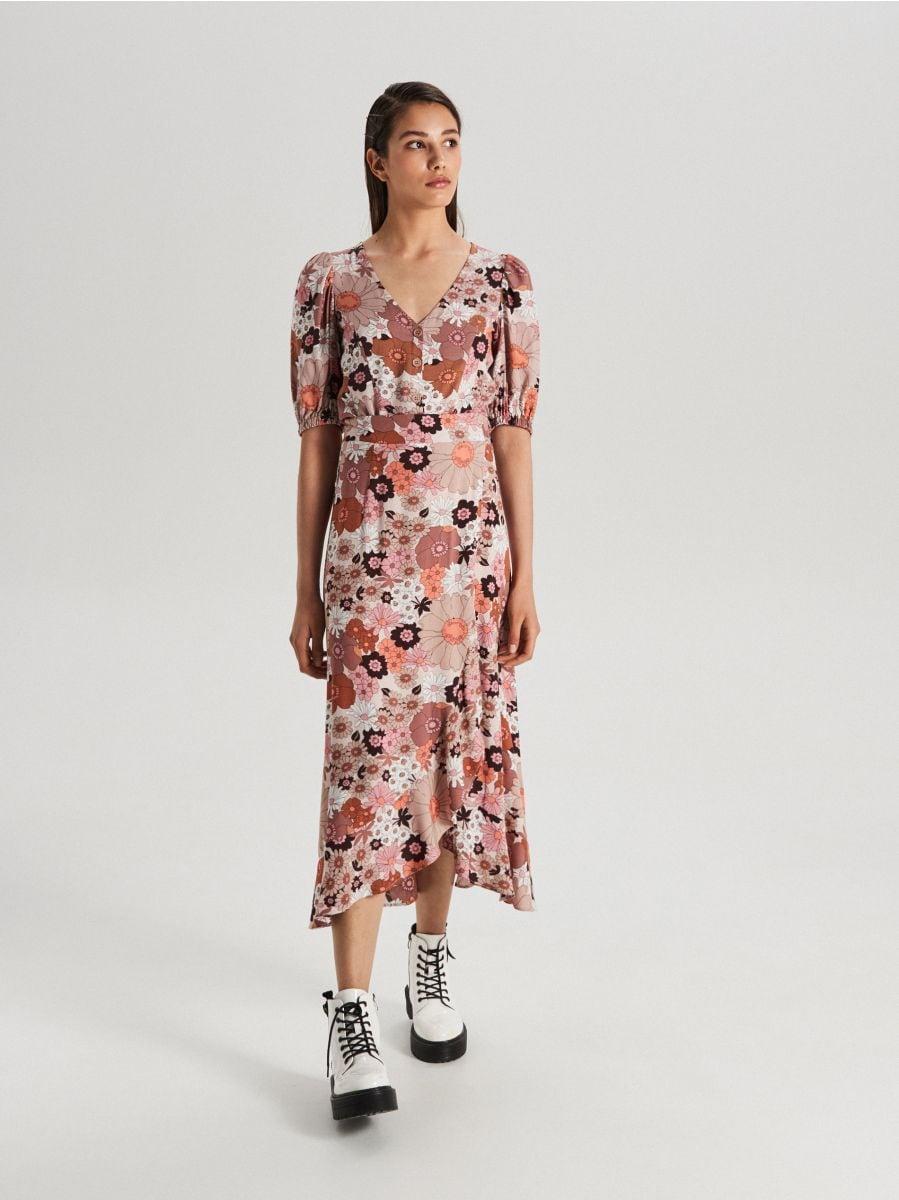 V-neck blouse - ORANGE - WC727-28X - Cropp - 2