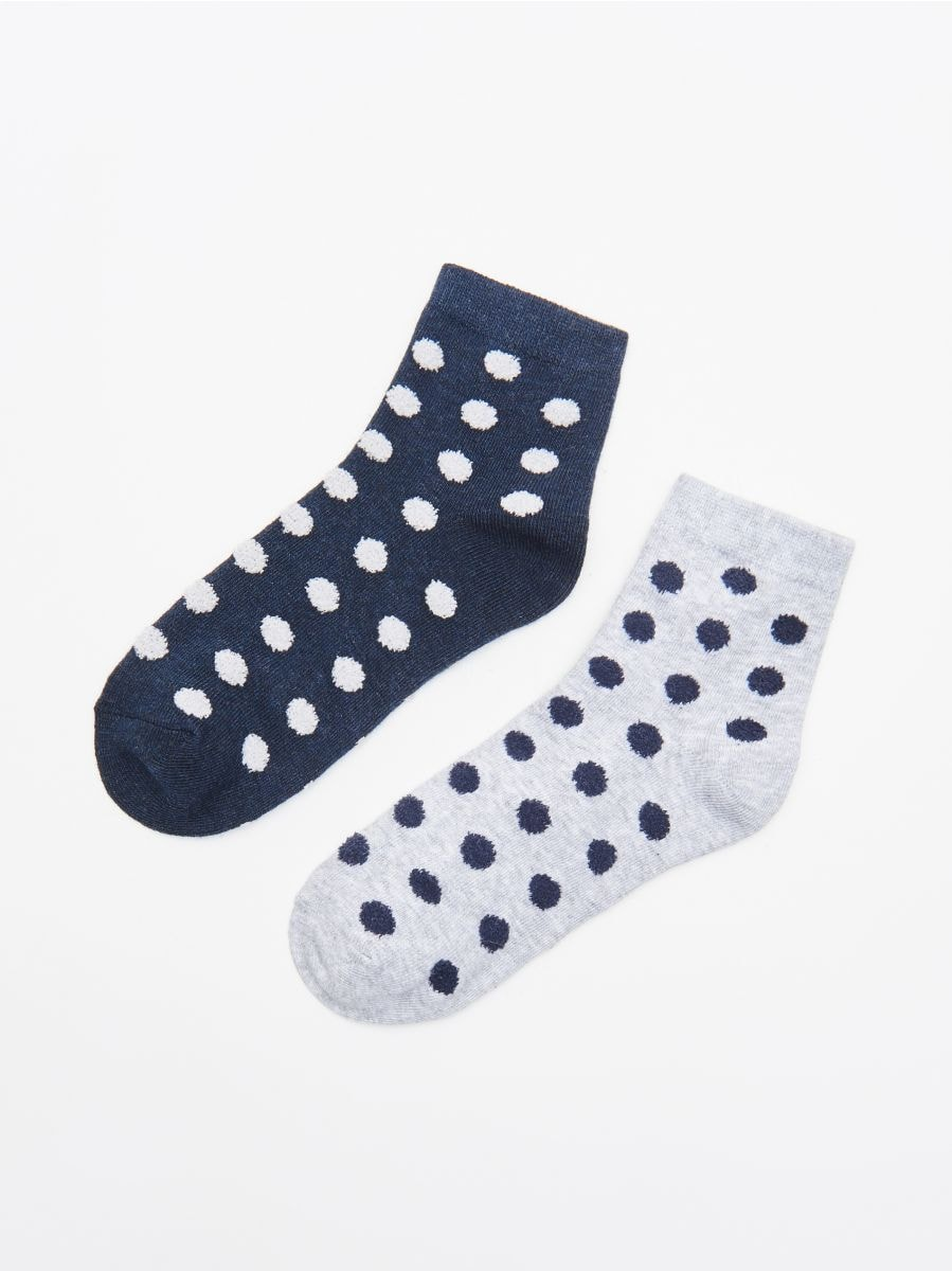 2-pack of socks - MARINEBLAU - WD957-59M - Cropp - 1