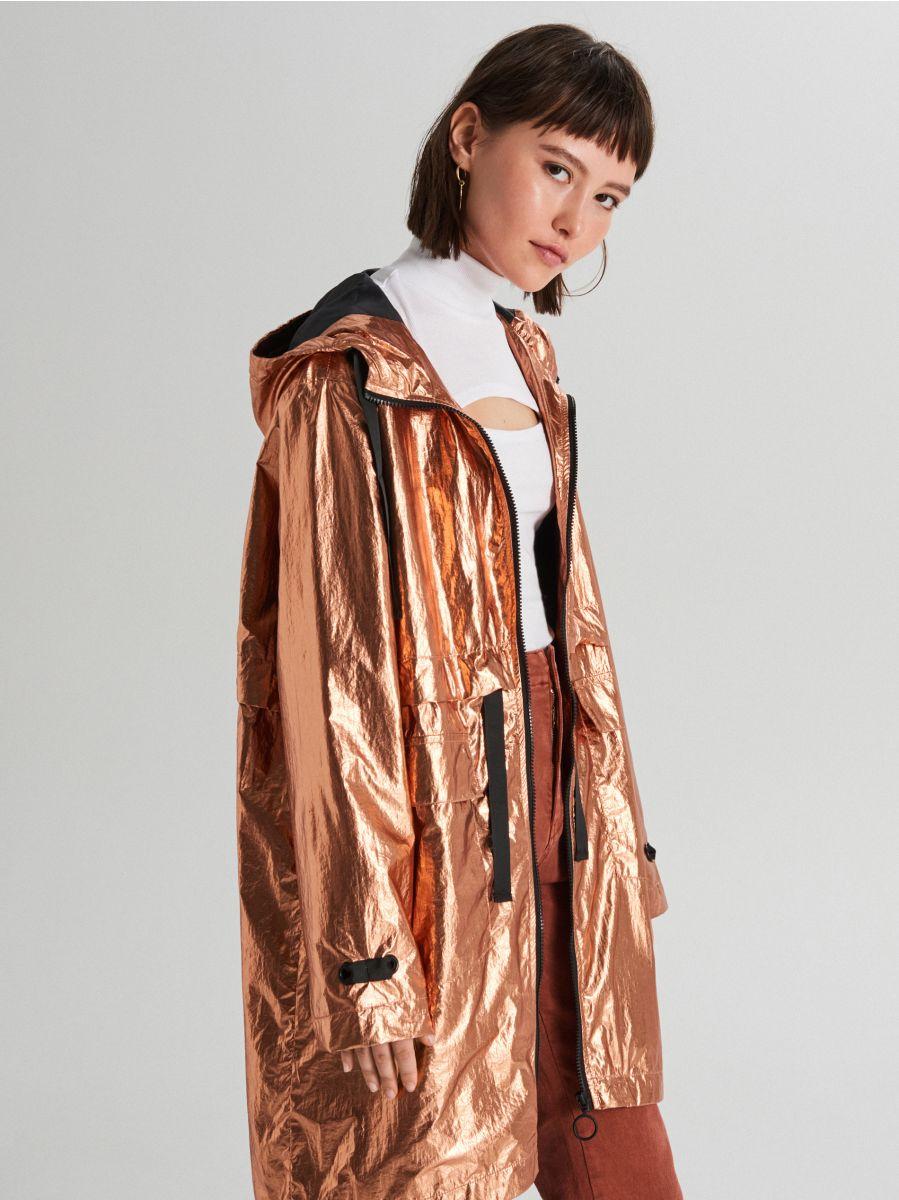 Oversized jacket with metallic finish - ROSA - WS166-40X - Cropp - 2