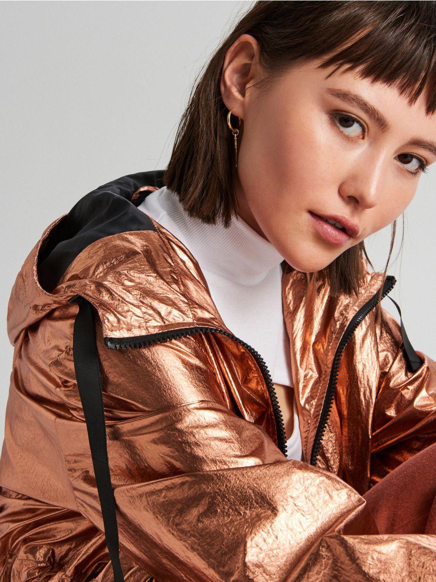 Oversized jacket with metallic finish - ROSA - WS166-40X - Cropp - 3
