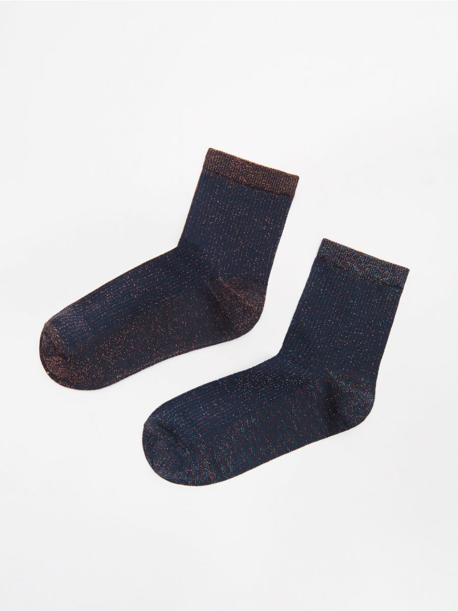 2-pack of socks - SCHWARZ - XD169-99X - Cropp - 1