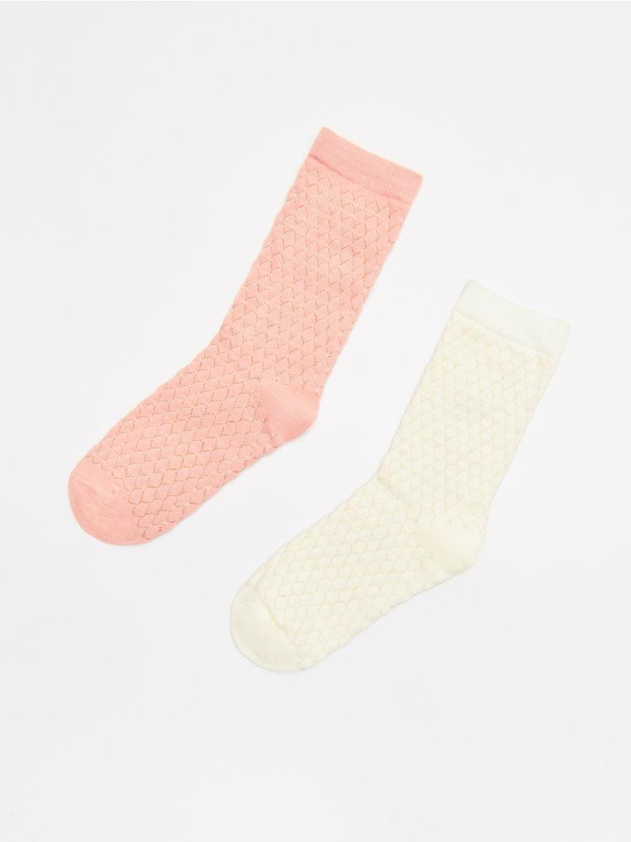 2-pack of socks - ELFENBEIN - XE473-01X - Cropp - 1