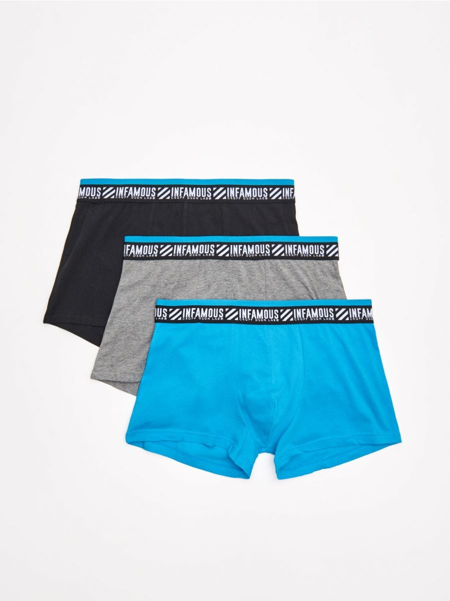 3 pack boxer shorts - BLAU - XM360-55X - Cropp - 1