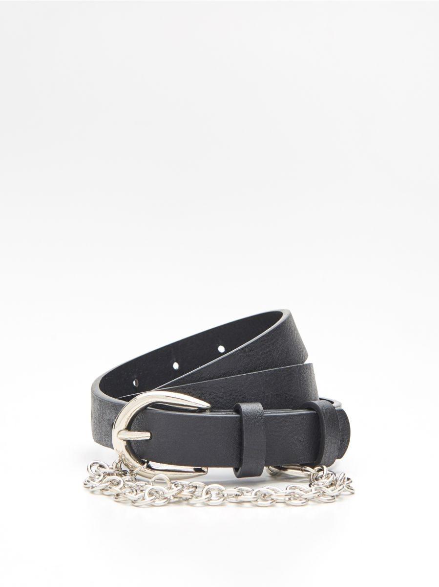 Belt with chain detail - SCHWARZ - XX420-99X - Cropp - 1