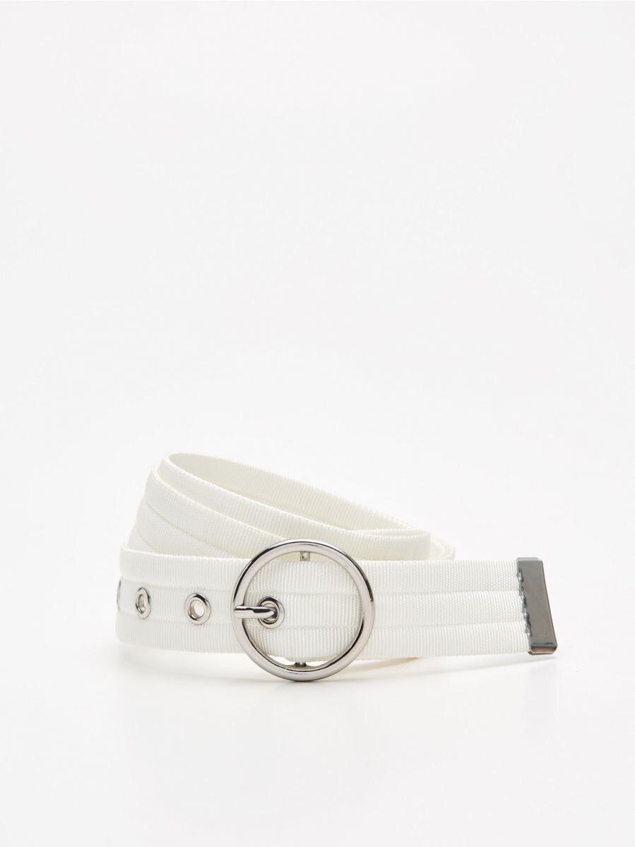 Webbing belt with buckle - WEIß - XX427-00X - Cropp - 1