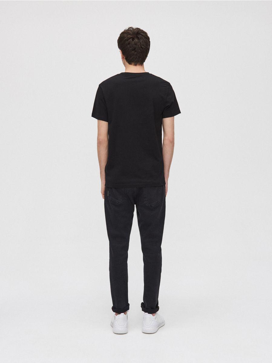 T-shirt with graphic - SCHWARZ - XZ411-99X - Cropp - 3