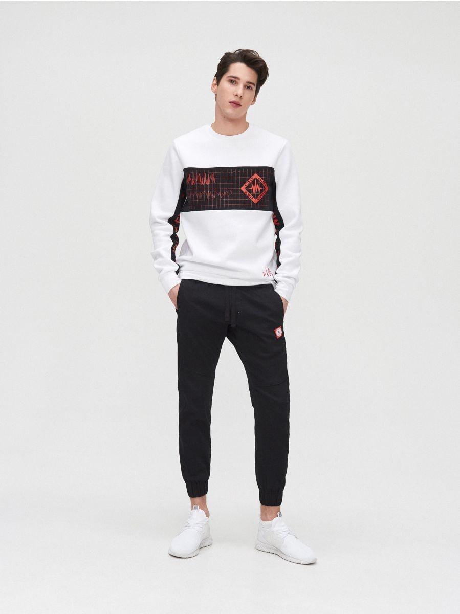 Sweat jogging pants - SCHWARZ - YH163-99X - Cropp - 1