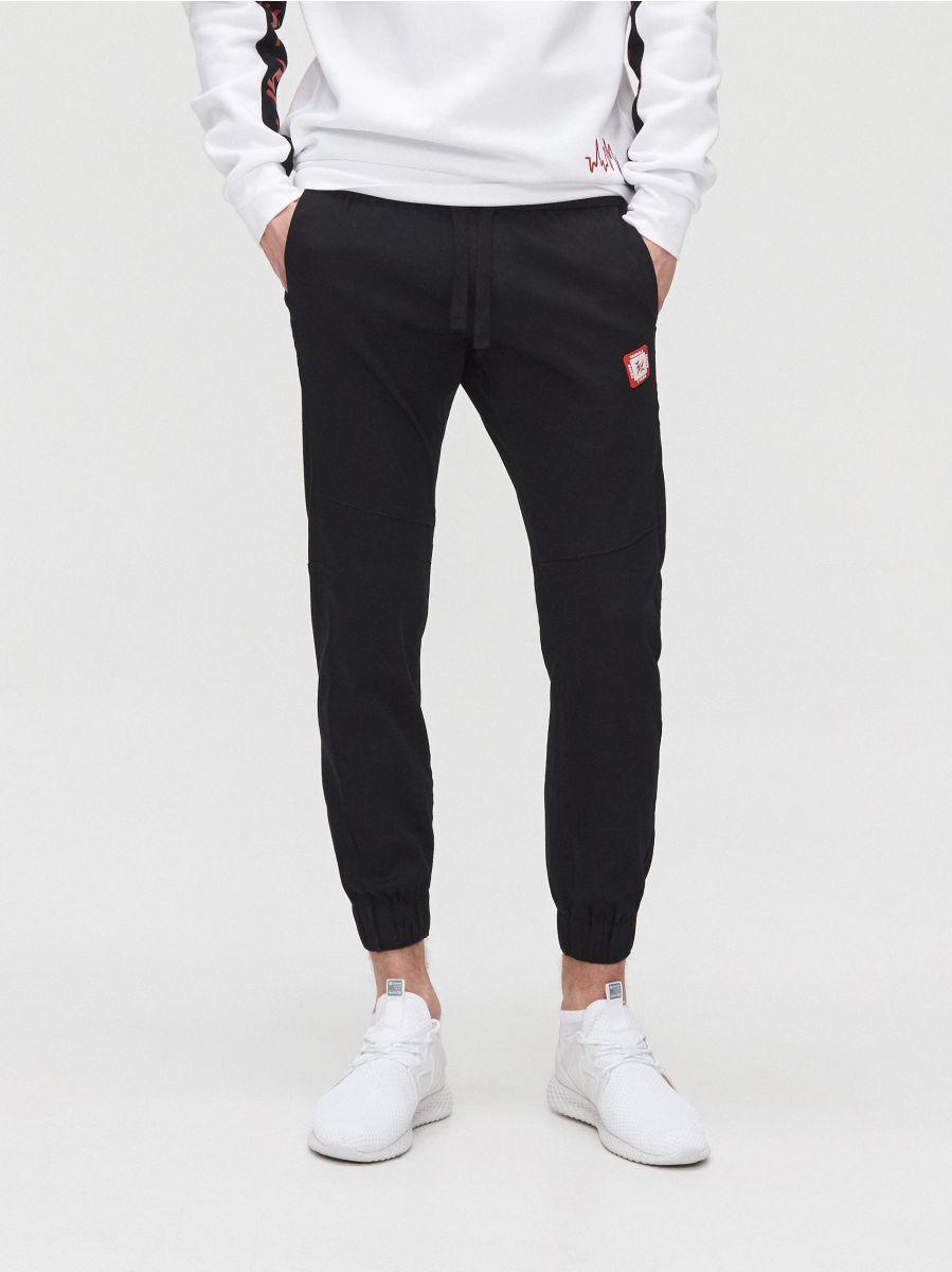 Sweat jogging pants - SCHWARZ - YH163-99X - Cropp - 2