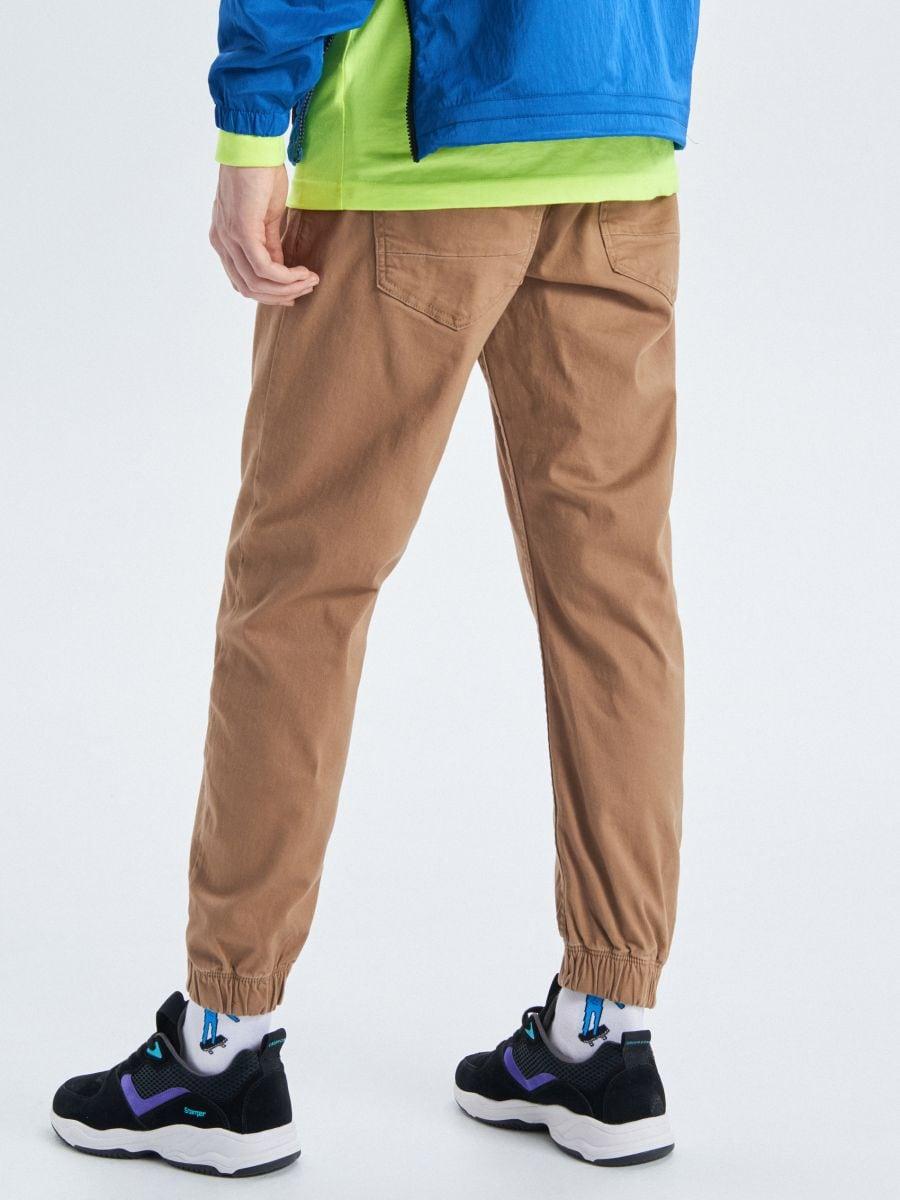 Stretch twill joggers - BEIGE - UW714-80X - Cropp - 3