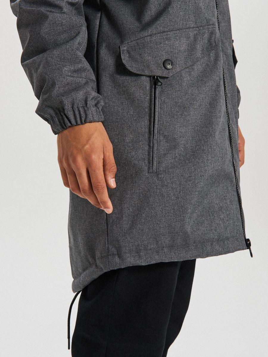 Hooded coat - GRAU - VB129-90M - Cropp - 4
