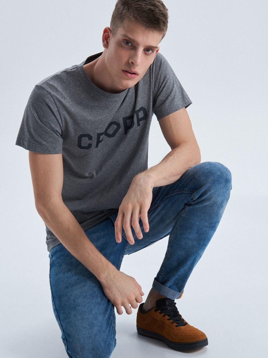 Cropp printed T-shirt - HELLGRAU - VD240-09M - Cropp - 1
