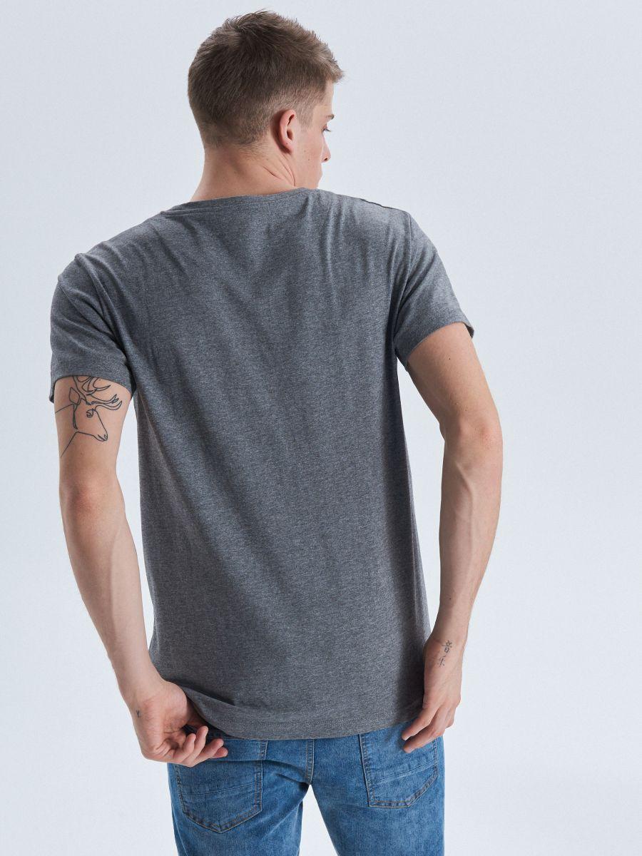 Cropp printed T-shirt - HELLGRAU - VD240-09M - Cropp - 3