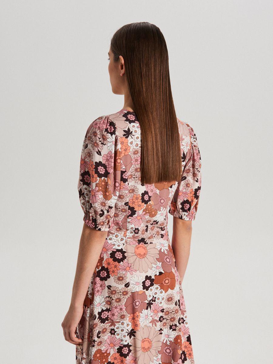 V-neck blouse - ORANGE - WC727-28X - Cropp - 4