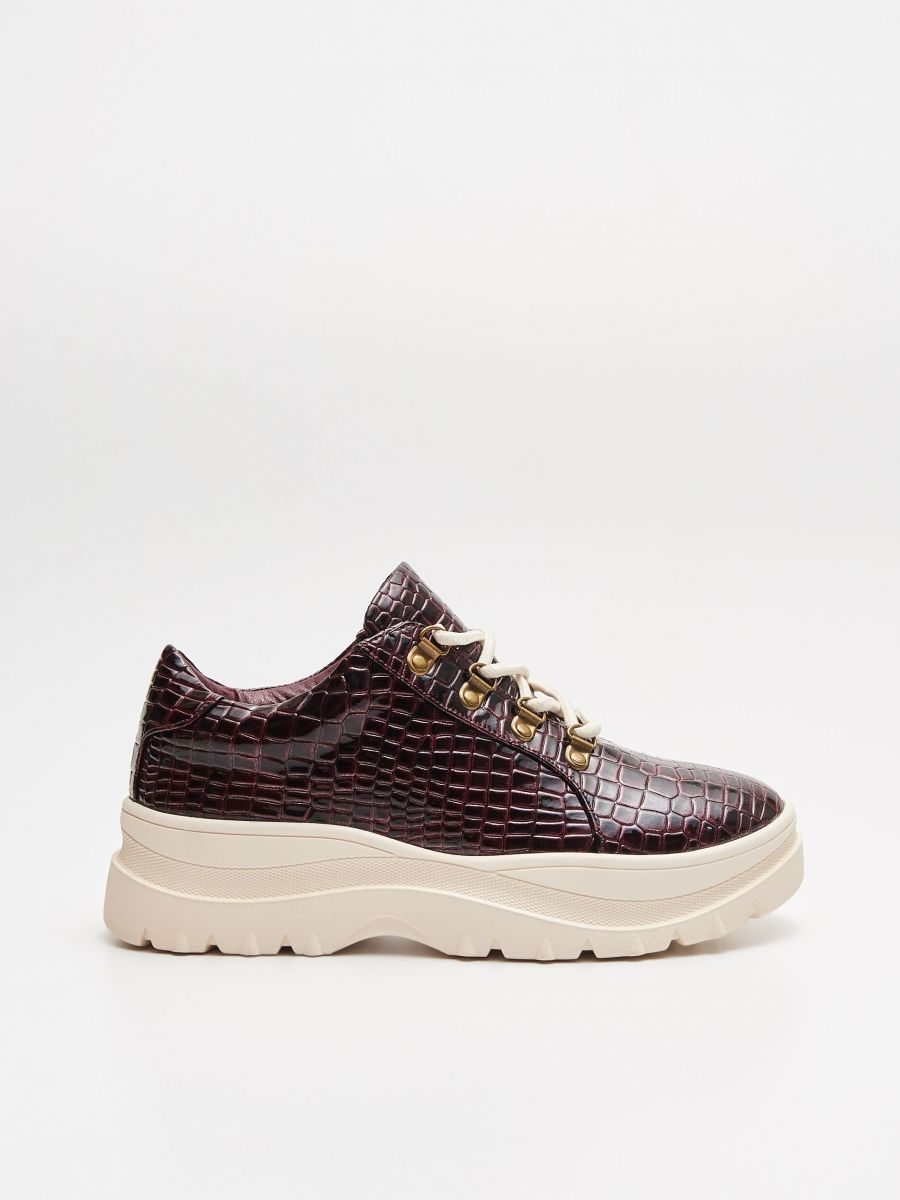 Thick-soled shoes - BURGUNDROT - WE865-83X - Cropp - 1
