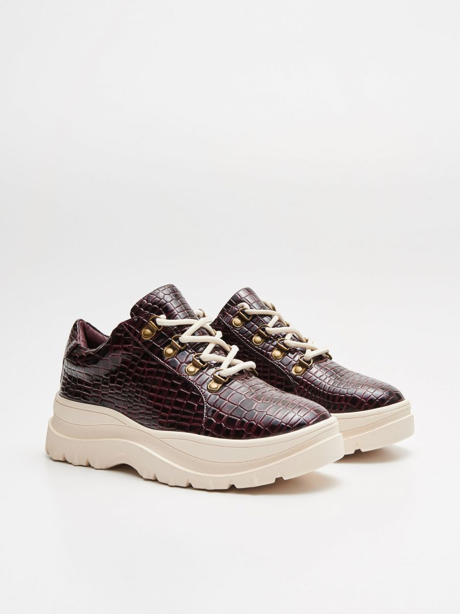 Thick-soled shoes - BURGUNDROT - WE865-83X - Cropp - 3