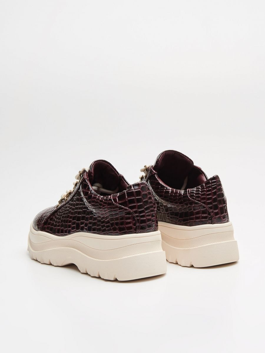 Thick-soled shoes - BURGUNDROT - WE865-83X - Cropp - 5