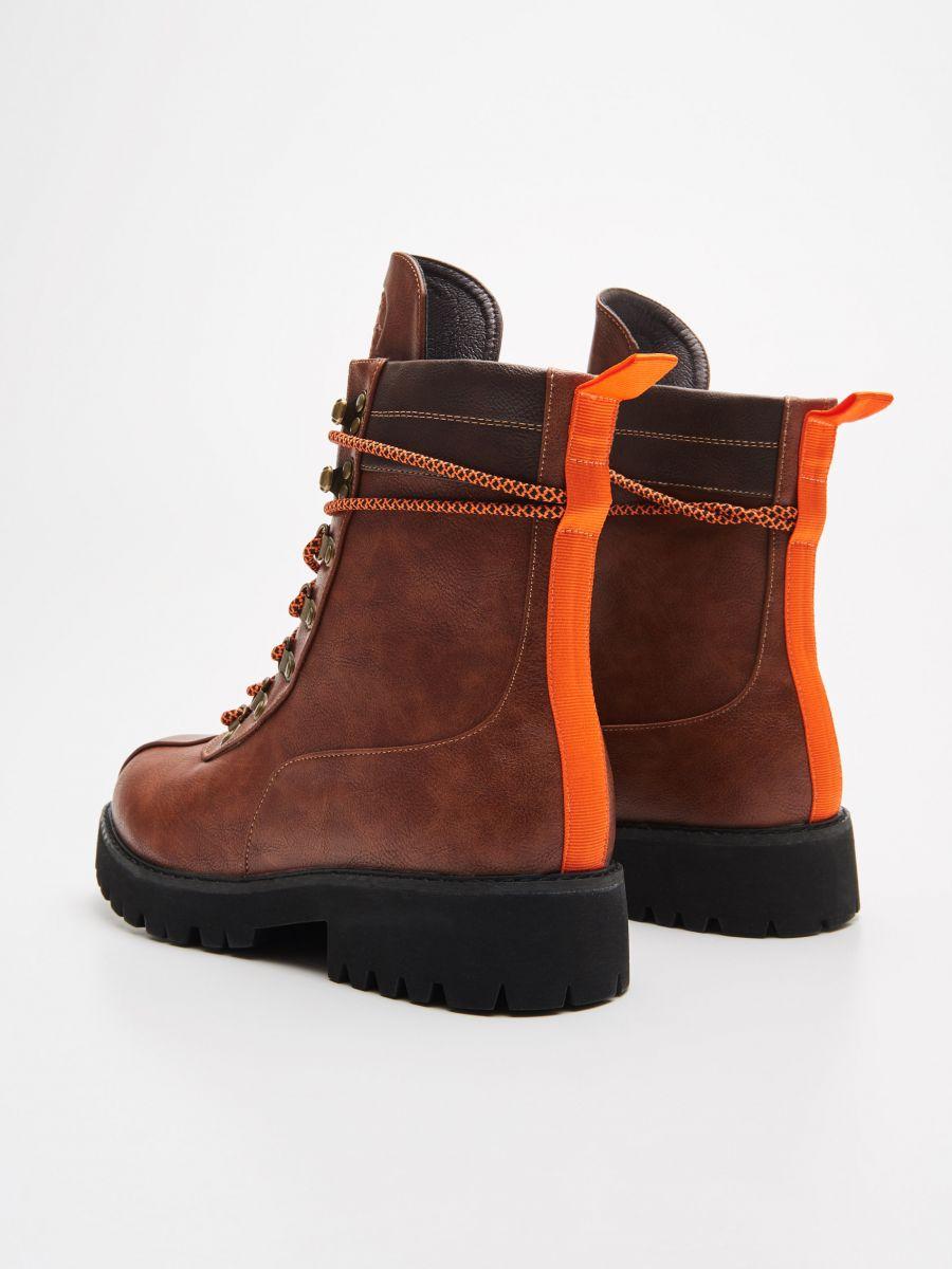 Lace up hiking boots - BRAUN - WE899-88X - Cropp - 4