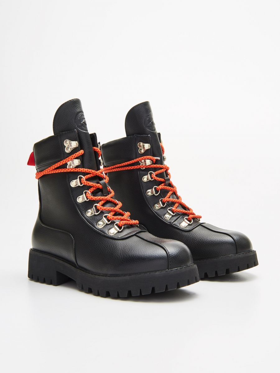 Lace up hiking boots - SCHWARZ - WE899-99X - Cropp - 3