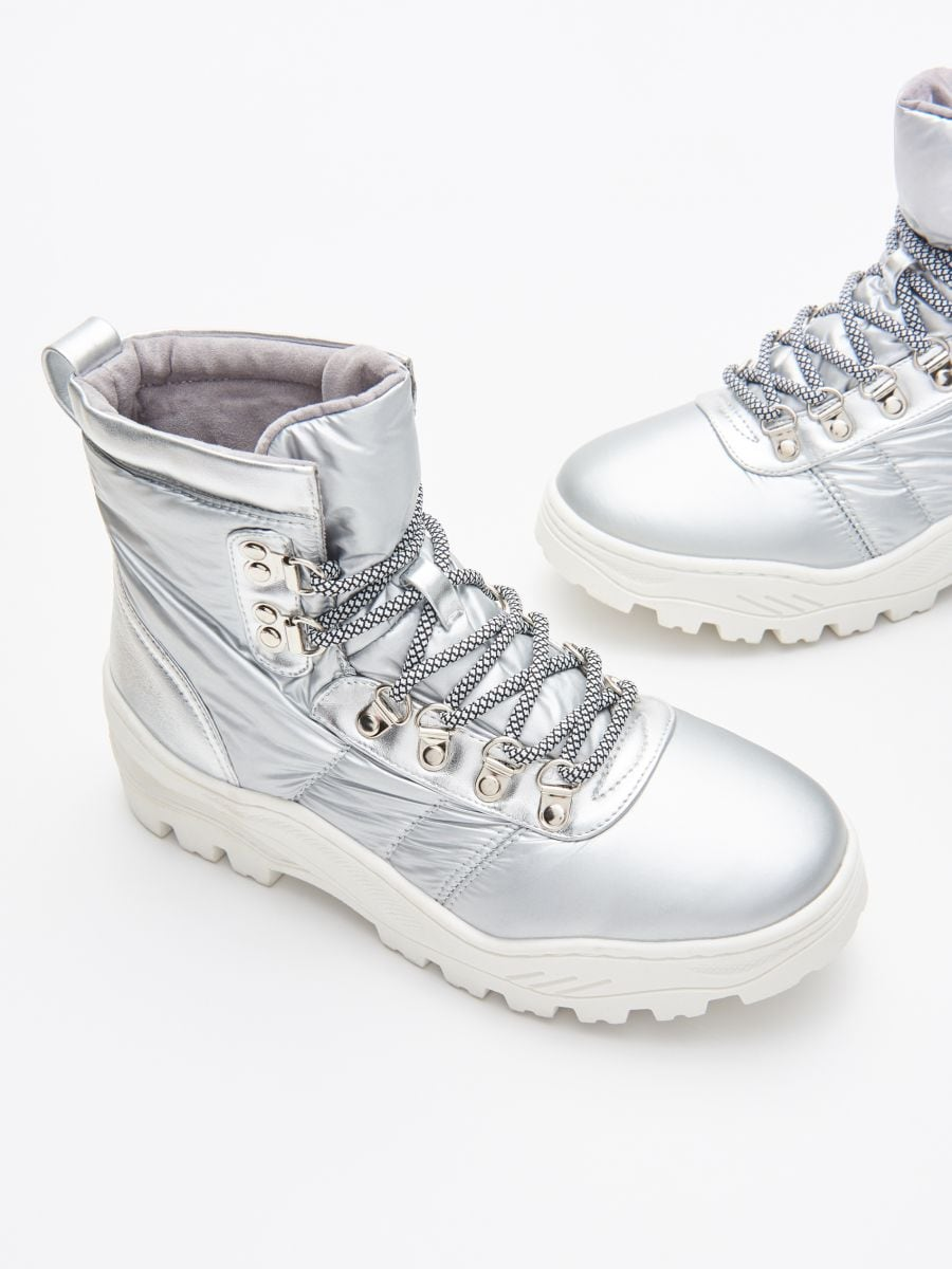Chunky sole winter boots - SILBER - WE906-SLV - Cropp - 2