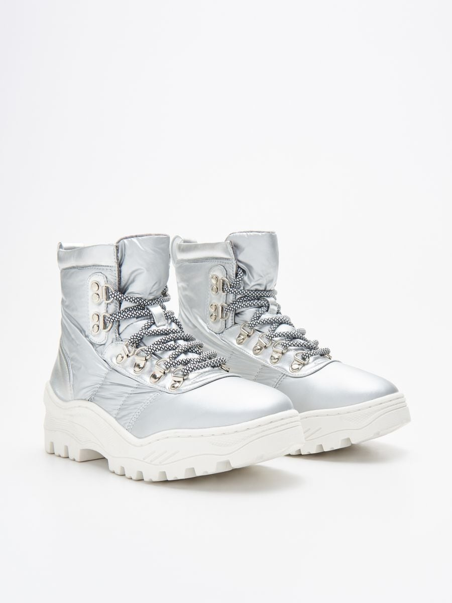 Chunky sole winter boots - SILBER - WE906-SLV - Cropp - 3