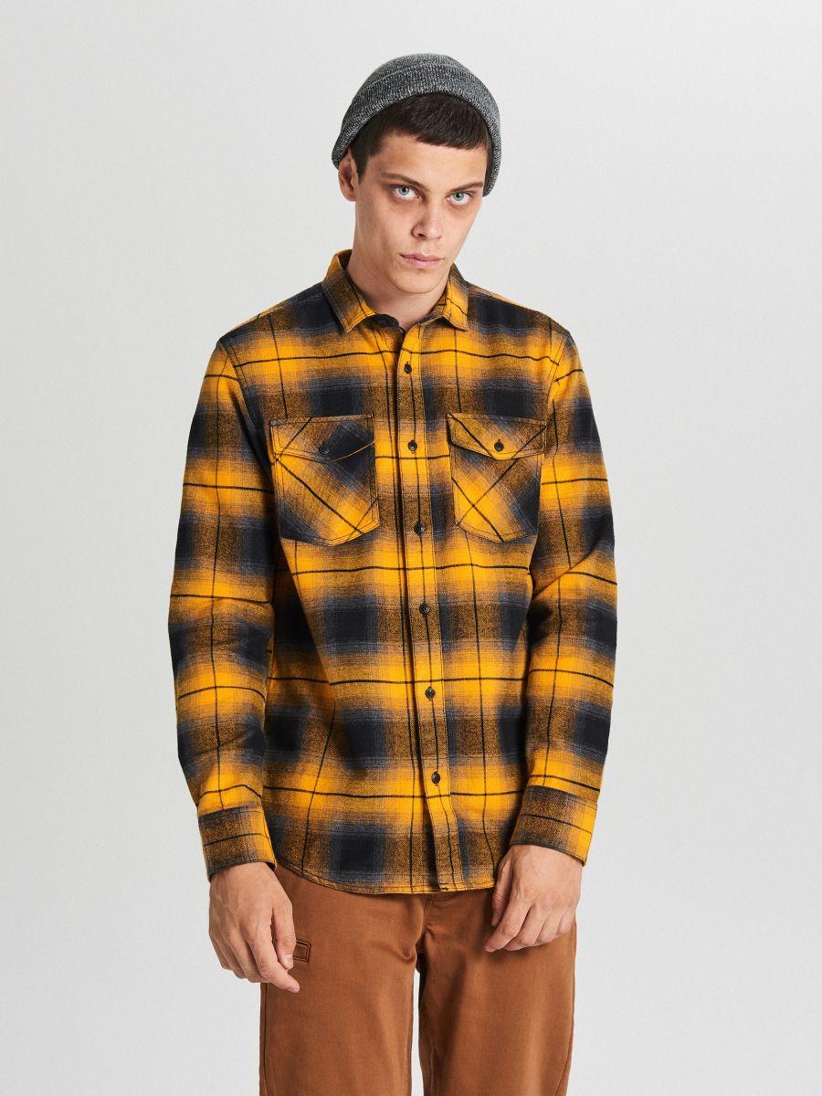 Check shirt - GELB - WF528-11X - Cropp - 1