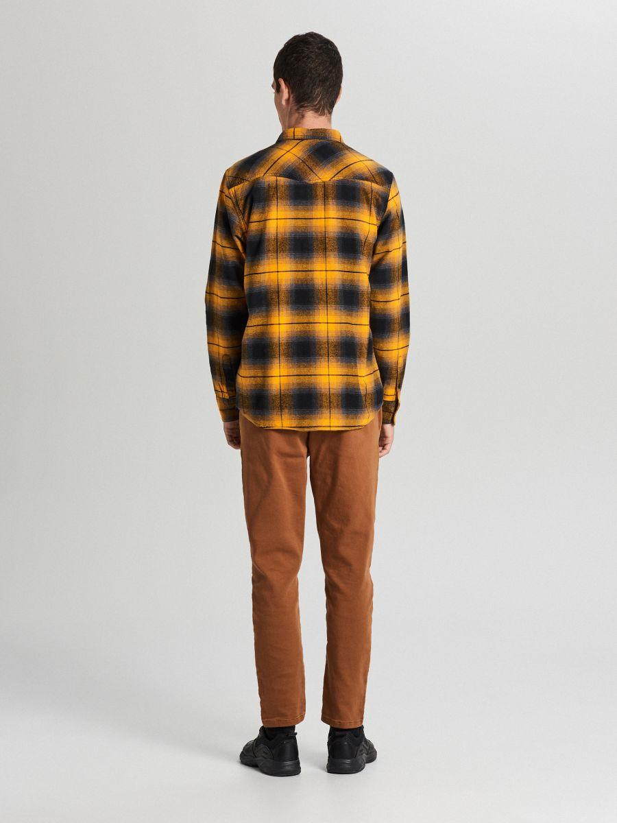 Check shirt - GELB - WF528-11X - Cropp - 4