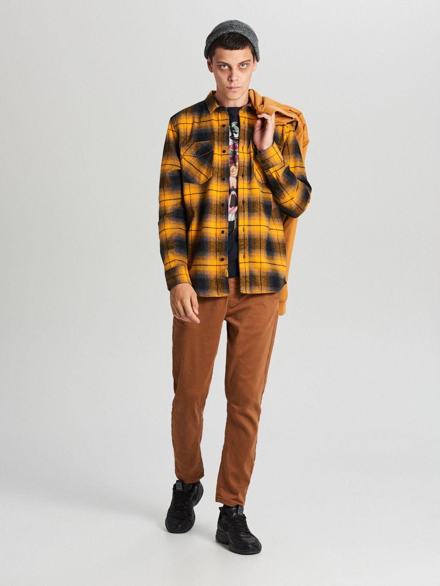 Check shirt - GELB - WF528-11X - Cropp - 5