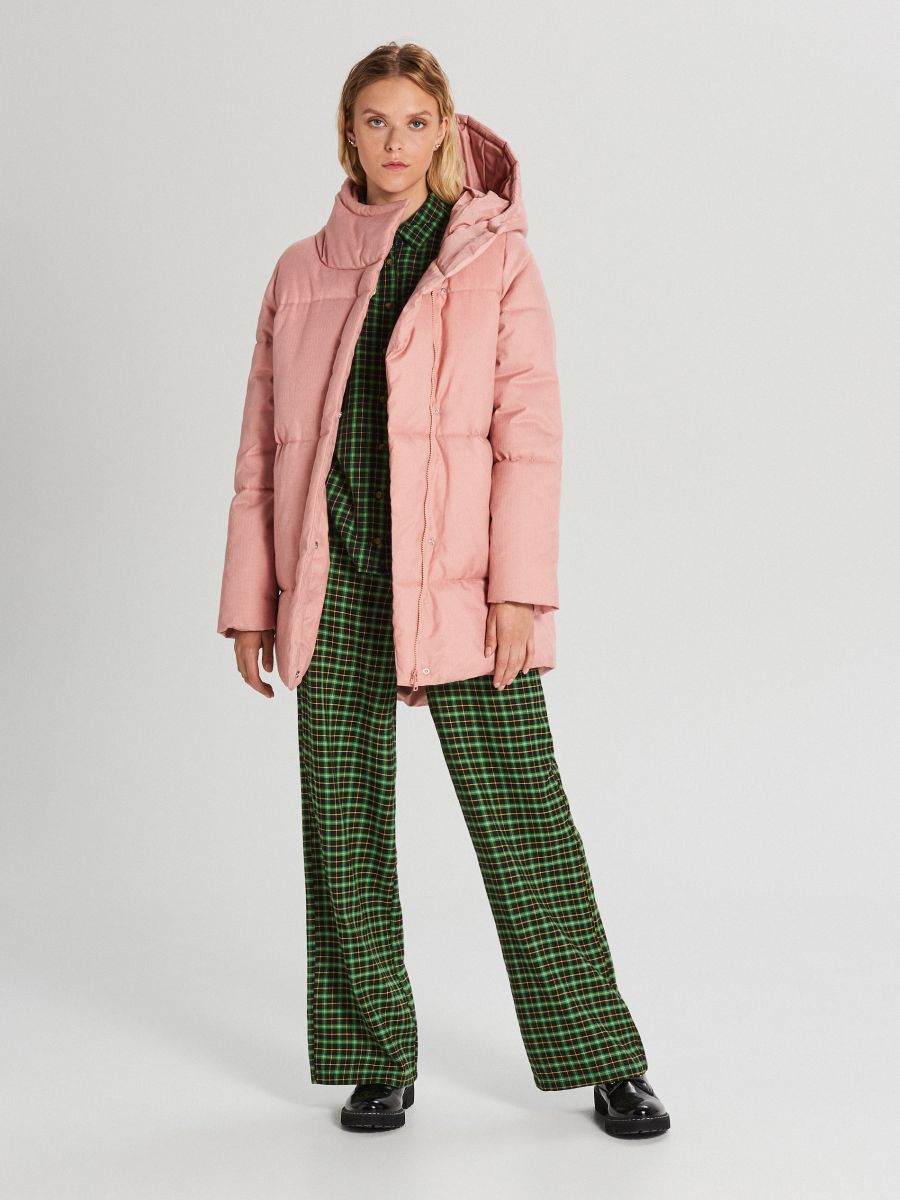 Hooded quilted jacket - ROSA - WG285-03X - Cropp - 2