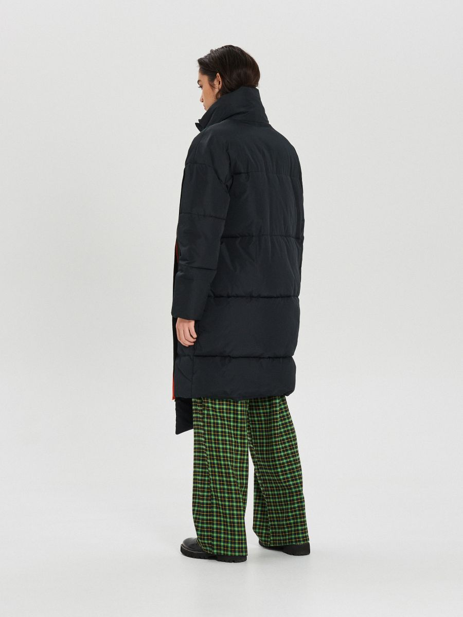 Quilted winter coat with additional buckle clasp - SCHWARZ - WG306-99X - Cropp - 9