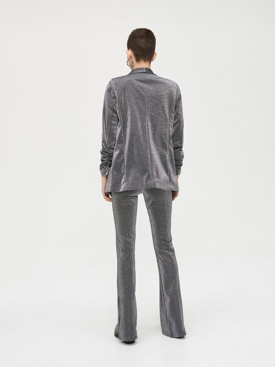 Longline blazer with gathered sleeves - GRAU - WG335-85X - Cropp - 4