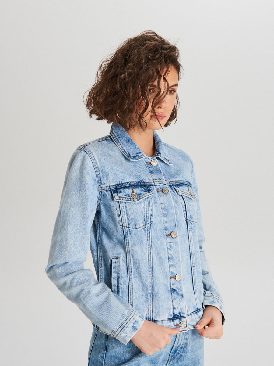 Denim jacket - BLAU - WG343-50J - Cropp - 2