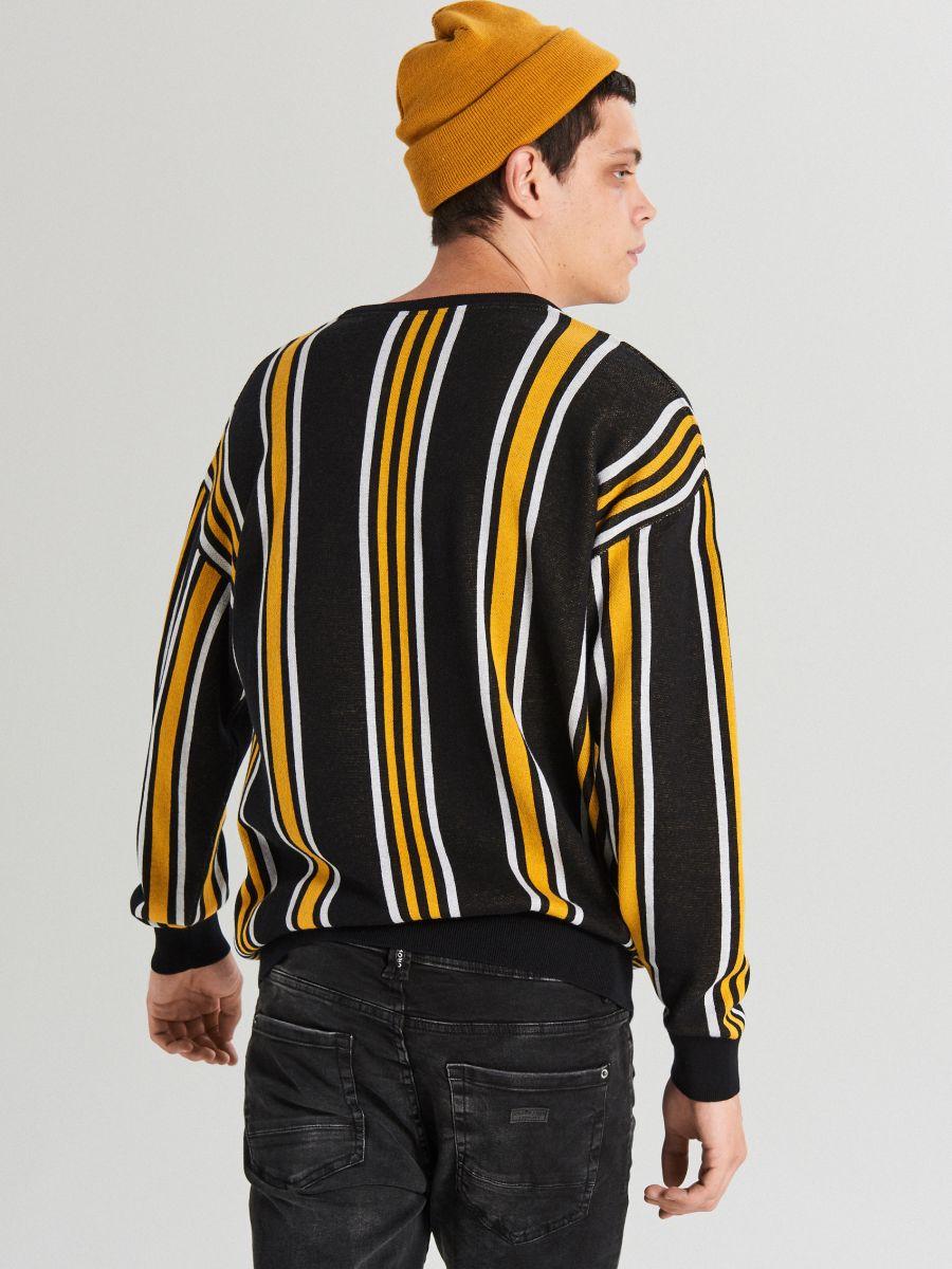 Striped sweater - ORANGE - WG366-22X - Cropp - 2