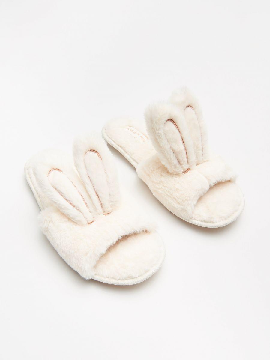 Bunny ear slippers - BEIGE - WN365-08X - Cropp - 1