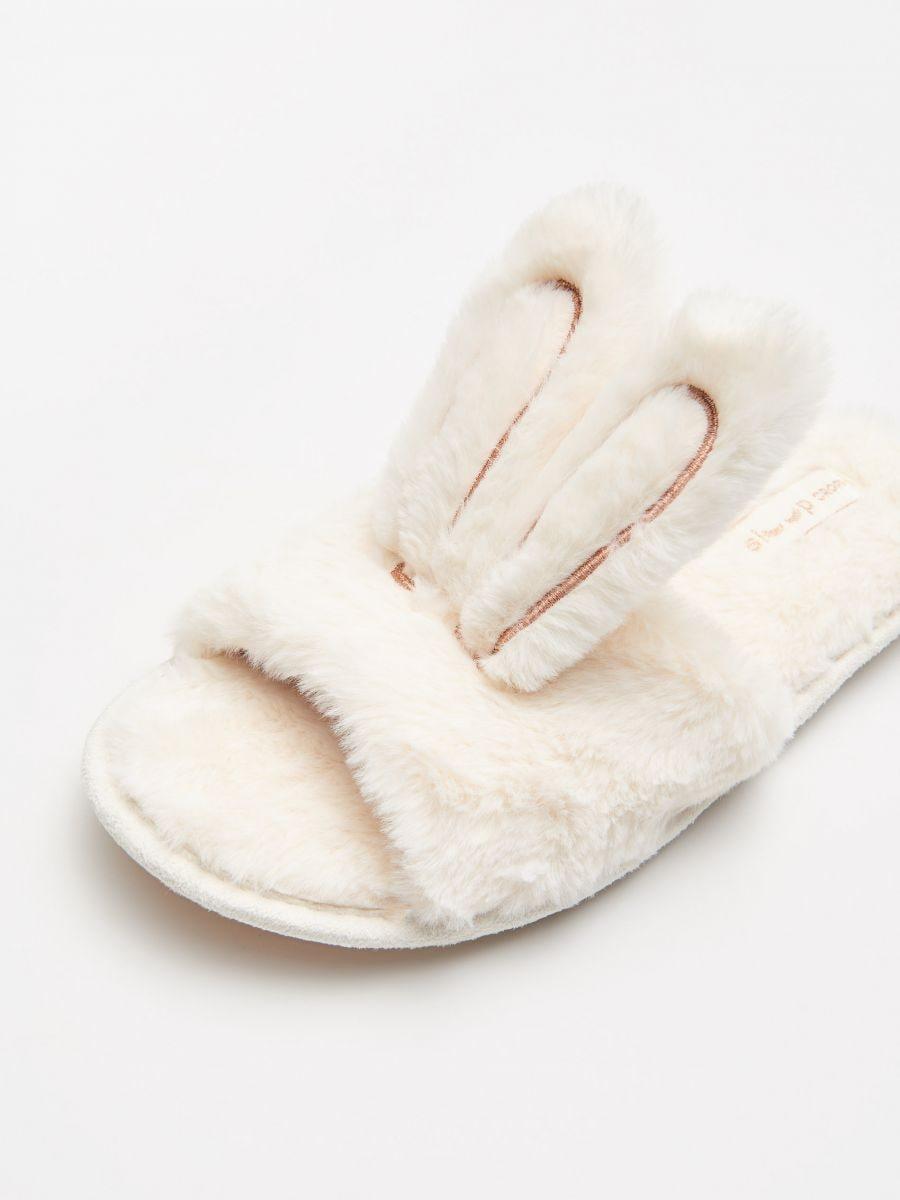 Bunny ear slippers - BEIGE - WN365-08X - Cropp - 2